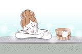 woman with hot spring - 226477169