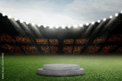Circle podium on grass