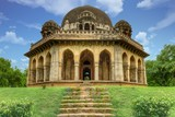 Mohammad Shah's Tomb from Sayyid and Lodhi period inside Lodhi Garden, New Delhi India