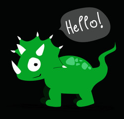 Illustration triceratops vector