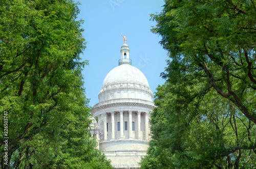 The Rhode Island State House in capital Providence. USA