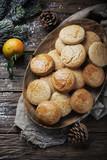 Homemade cookies for christmas dinner