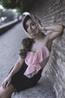 Quadro Amazing elegant young woman in Rome