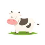 Cartoon cow vector isolated illustration