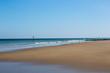 A deserted sandy beach, Cromer beach UK