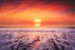 Quadro beautiful seascape in beach at sunset