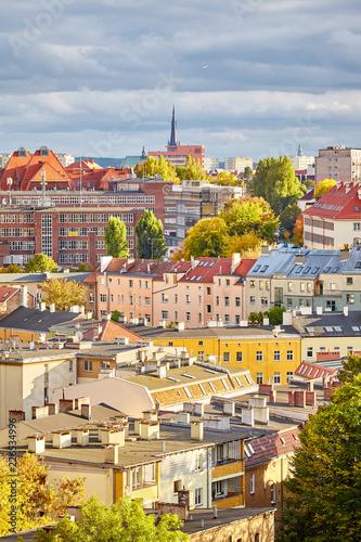Foto Murales Szczecin cityscape in autumn, Poland.
