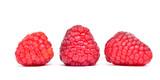 raspberry fruit isolate on white background