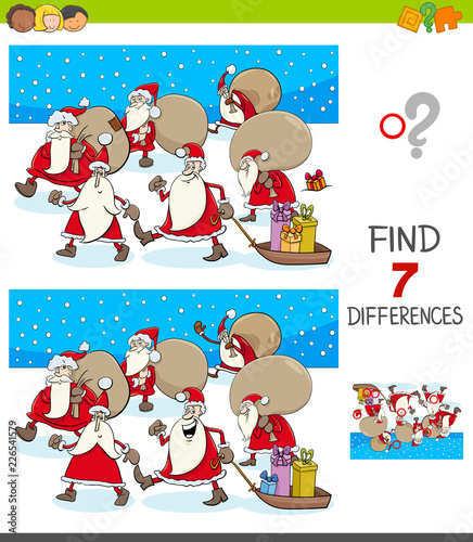 differences game with Santa Claus characters - 226541579