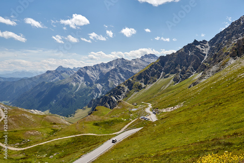 Col Agnel- mountain pass in the Cottian Alps, between France and Italy - 226542130