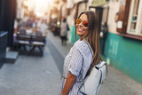 Female tourist in the city - 226542315