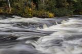 autumn river cascade