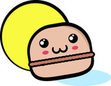 Illustrazione macaron felice