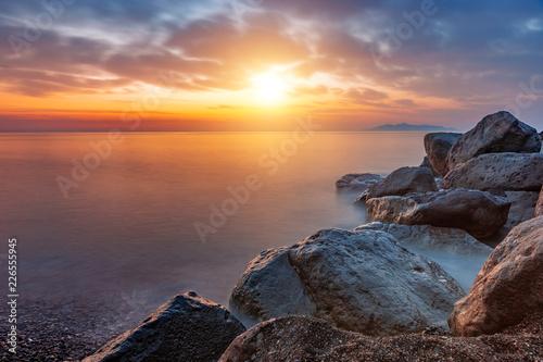 Landscape at sunrise, Santorini, Greece - 226555945