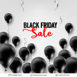 Black Friday Sale Backgrond. Air balloons and text