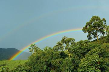 Two rainbow at mountains. Minas Gerais, Brazil © Lucio
