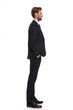 relaxed businessman standing and waiting in line - 226569596