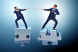 Leinwandbild Motiv Business concept of teamwork and competition