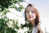 romantic portrait of a beautiful young woman - 226578923