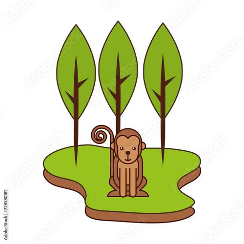 Fototapeta monkey cartoon in the park