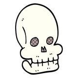 cartoon doodle funny skull - 226581333