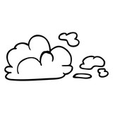line drawing cartoon storm cloud - 226582958