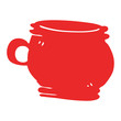 cartoon doodle cup