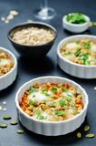 Сheese pumpkin seeds oats sweet potato casserole - 226589154