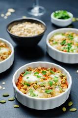 Сheese pumpkin seeds oats sweet potato casserole