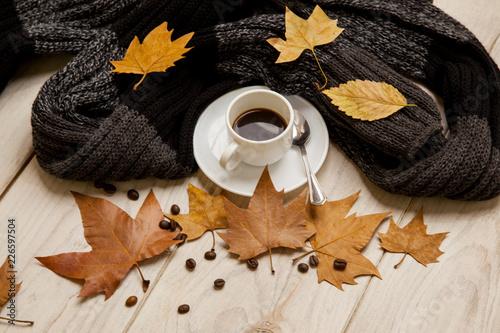 Cafe en una tarde de otoño