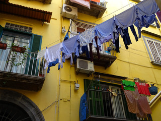Drying Clothes on the Street in Naples