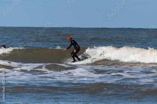 Fototapeta a day at the beach in Scheveningen The Netherlands