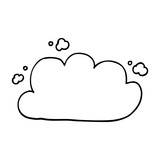 line drawing cartoon storm cloud - 226619364
