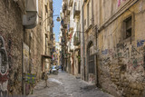 Colourful Streets of Naples old town Italy