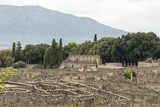 The ruins of pompeii italy