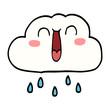 happy cartoon doodle rain cloud