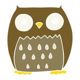flat color style cartoon owl