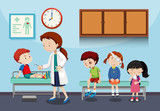 A doctor helping kids - 226637724