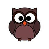 cute owl bird character
