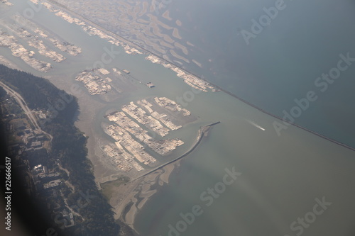 aerial view of harbour - 226666517