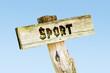Leinwanddruck Bild - Schild 329 - Sport