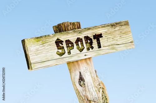 Leinwanddruck Bild Schild 329 - Sport