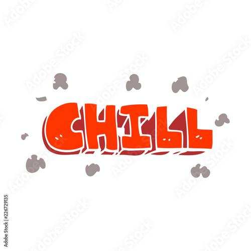 Sticker cartoon doodle chill symbol