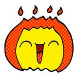 cartoon doodle flame