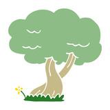 cartoon doodle tree