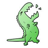 cartoon doodle roaring t rex © lineartestpilot