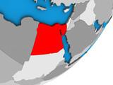 Egypt on blue political 3D globe. - 226762907
