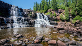 Gooseberry Middle Falls ,Beauty of nature,waterfall on the north shore of Lake Superior in Minnesota