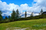 Italian Dolomites -view from the pass Tres Troci