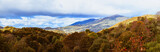 Beautiful panorama of the Bieszczady Mountains. Poland.